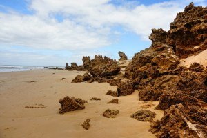 Rugged rocks vs. smooth sand