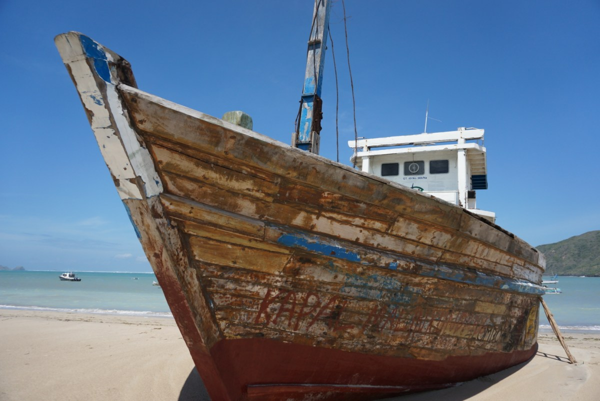 An old boat in the fishermen's village