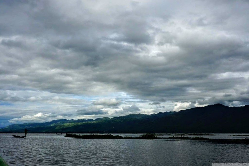 Inle Lake on a cloudy day