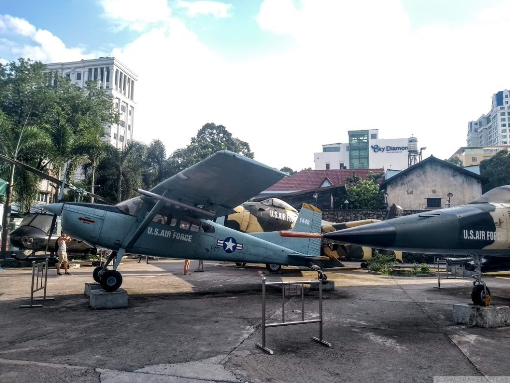 Planes outside the War Remnants Museum in Ho Chi Minh City