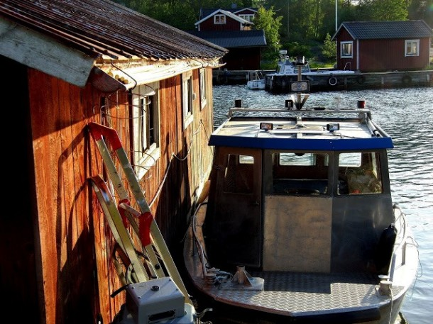A fishing boat at the island of Möja. Photo: Erik Bergin