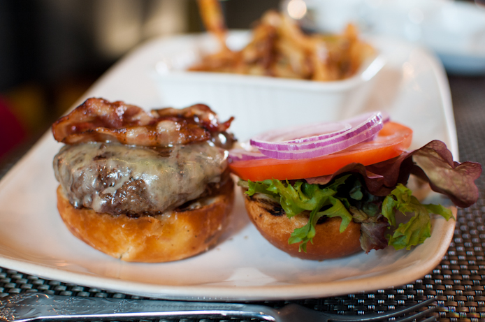 Mini burgers with a Swedish ingredients at Marcus Samuelsson's Norda Bar & Grill