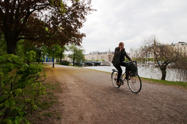 Biking around Stockholm