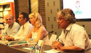 Agustín Pániker con Eline Snel, Jordi Pigem y Fernando Torrijos