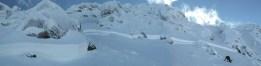 Odtrh lavíny bol približne 100 m dlhý a dosahoval výšku 40 až 70 cm
