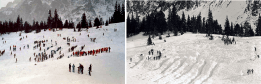 Záchranárske a výkopové práce na lavínovom nánose
