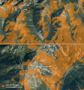 Analýza pokrytia signálom v prehľadávanej oblasti. Zdroj: upravené podľa www.orange.sk