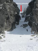 Miesto odtrhu lavíny
