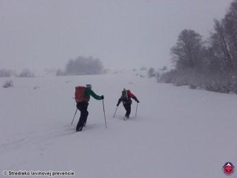 z Tureckej v novom snehu na Líšku