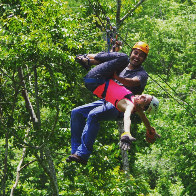 Zipping through the jungle!