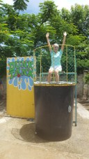 TIC's SLP Miss Marcela getting dunk!