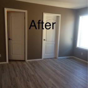 After-Drywall repair, fresh paint on walls and trim