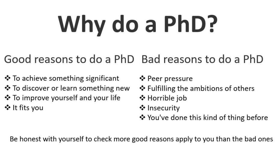 why do a phd