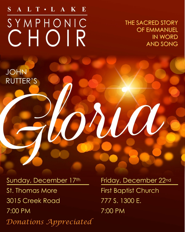 Christmas 2017 Gloria poster