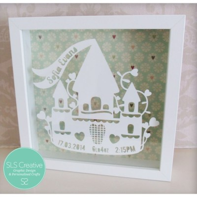 Princess Castle Paper Cut Template