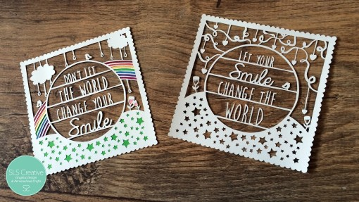 Let your smile change the world paper cut templates duo SLS Creative