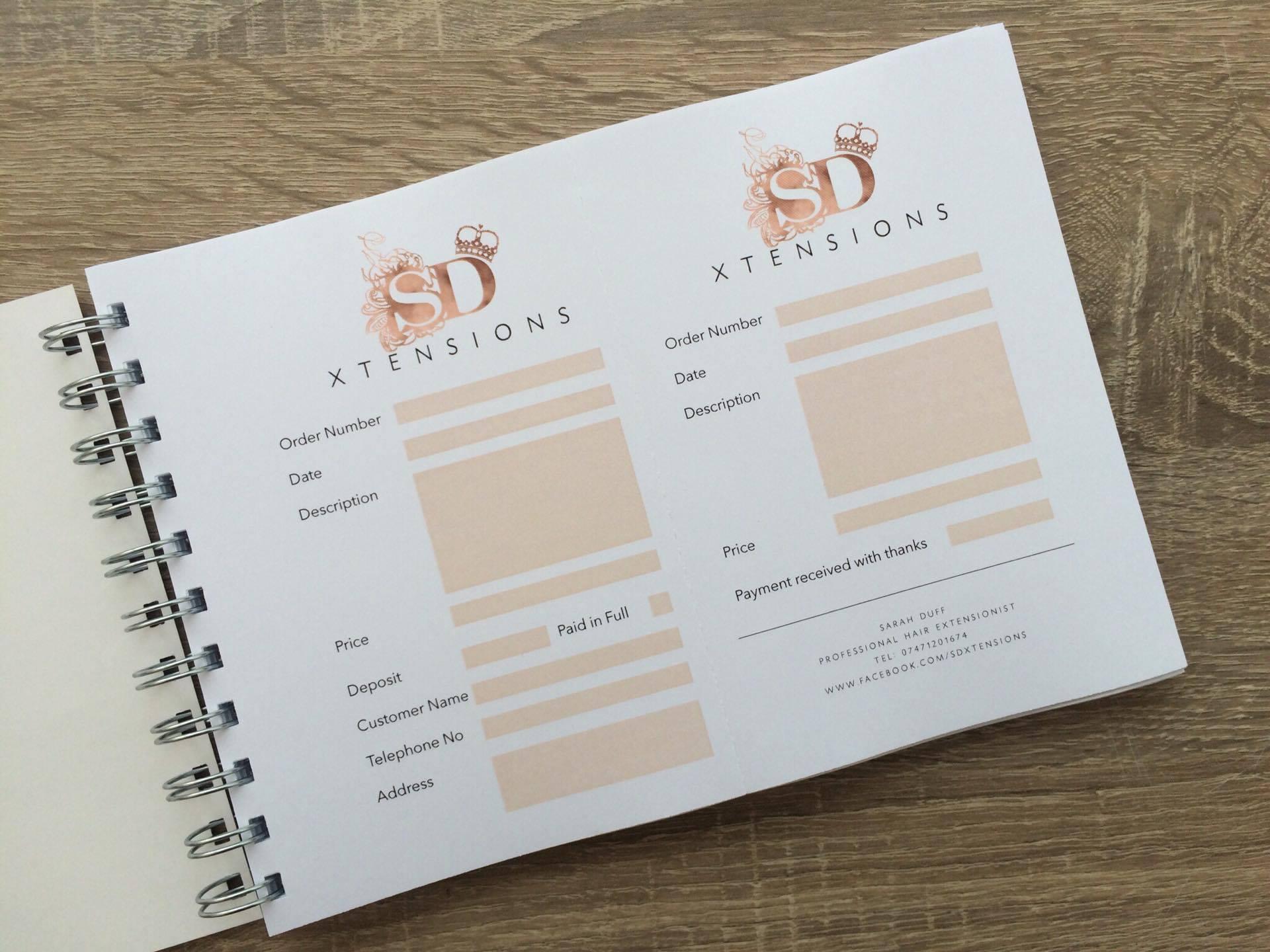 a5 mini order receipt book sls creative