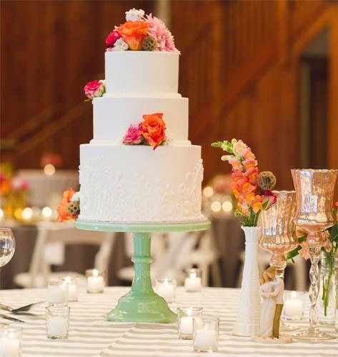 trzypoziomowy tort na wesele
