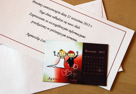 save the date - organizacja wesela kraków
