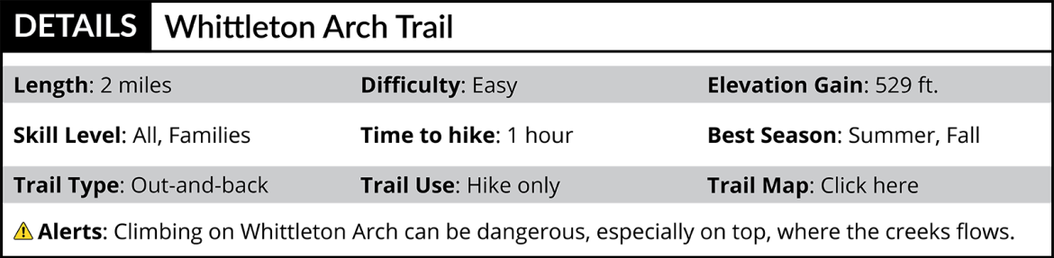 Whittleton Arch Trail Details