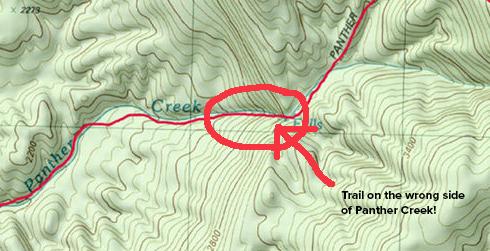 Panther Creek Falls, Panther Creek Trail, Cohutta Wilderness, Slucherville