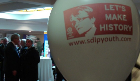 Margaret Ritchie SDLP leadership campaign promotional balloon - Let's Make History