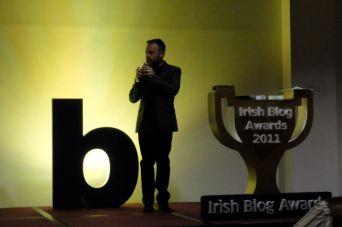 Rick O'Shea kicking off the Irish Blog Award 2011 ceremony