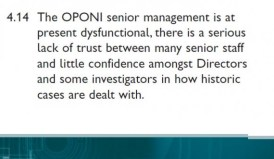 snippet from CJI NI report into OPONI