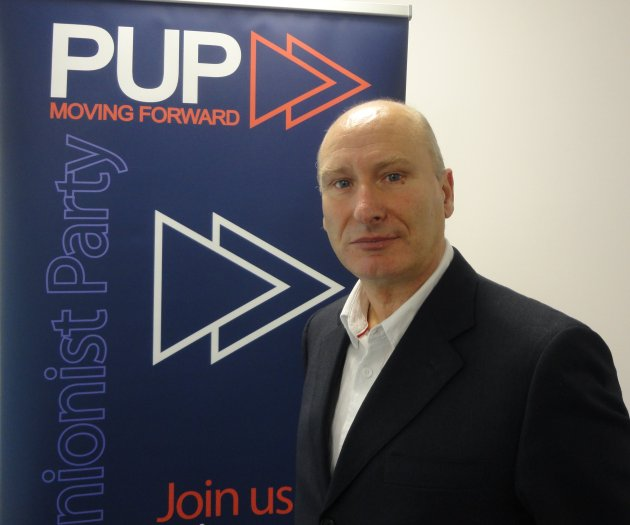 Billy Hutchinson - newly elected as PUP leader