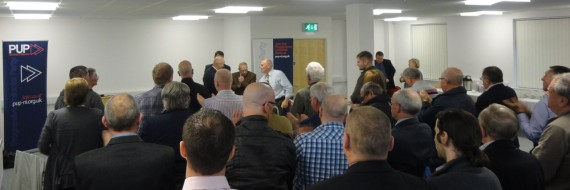 back of heads PUP conference