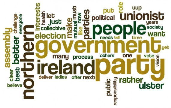 a Wordle.net summary of Tom Elliott's speech to 2011 UUP conference
