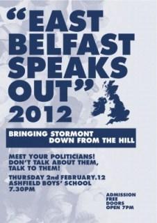 East Belfast Speaks Out 2012 leaflet