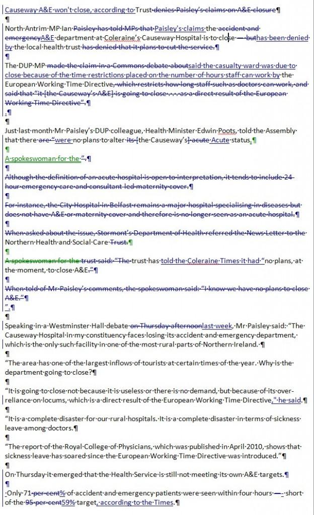 news letter belfast telegraph articles comparison