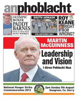 An Phoblacht front page for July edition
