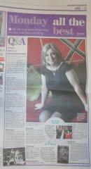 Lynda Bryans Q&A in Belfast Telegraph Monday 18 February 2013