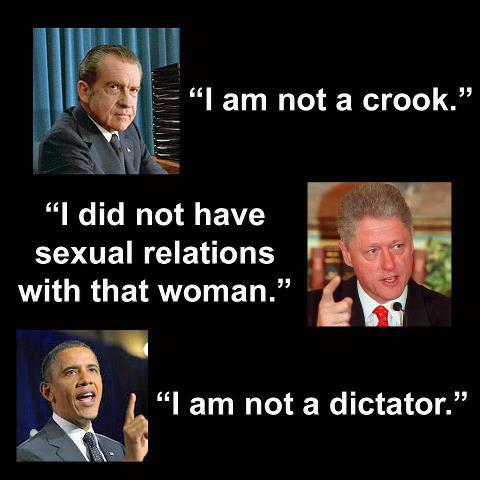"OBAMA ""I am not a dictator"""