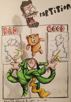 Gerry Adams cartoon, Brian John Spencer