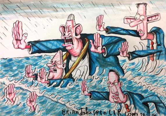 Marriage equality cartoon, DUP, Brian John Spencer