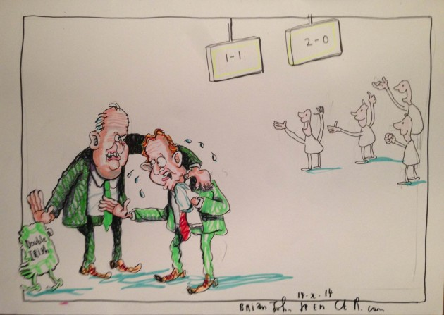 Enda Kenny and Michael Noonan