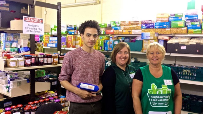 Food bank volunteers in the store room at Mornington Community centre