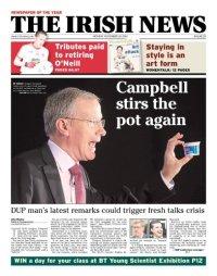 Irish News front page Mon24Nov2014