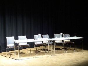 Platform for Change panel - empty chairs