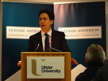 Ed-Miliband at Heenan-Anderson Commission at Ulster University