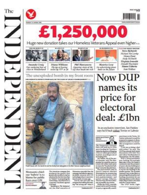 Independent newspaper front page Tue 24 March 2015