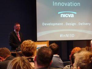 Simon Hamilton addressing NICVA conference on public innovation - NICVACEE