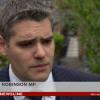 Gavin Robinson BBC interview about bonfires screengrab
