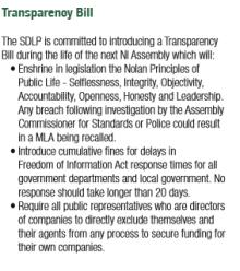 SDLP transparency