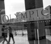 Olympic Print - window