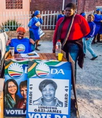 DA activists in the ANC stronghold of Gugulethu in 2011.