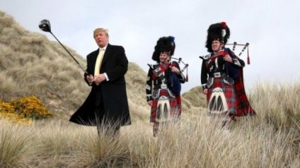 Trump does have  business experience in the UK. Photo from the BBC